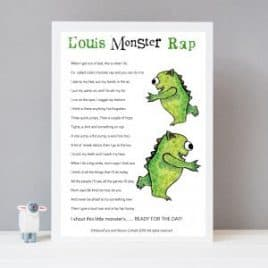 monster rap print for Children's bedroom