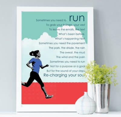 Run print motivational print