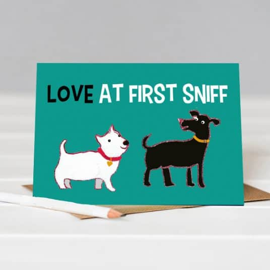 Valentines card for dog lover