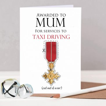 Personalised OBE Mother's Day Award Card For Mum