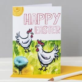 Easter card, easter gift, easter, chickens