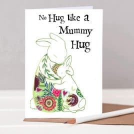 Rabbits Mother's Day card