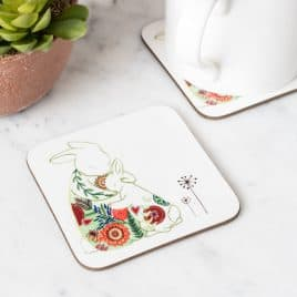 Mummy hugs rabbit coaster