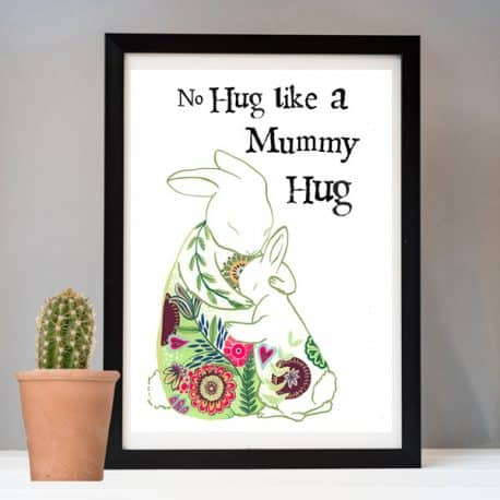 No hug like a mummy hug print – mother's Day gift