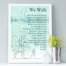 we walk hiking print - gift for a walking enthusiast