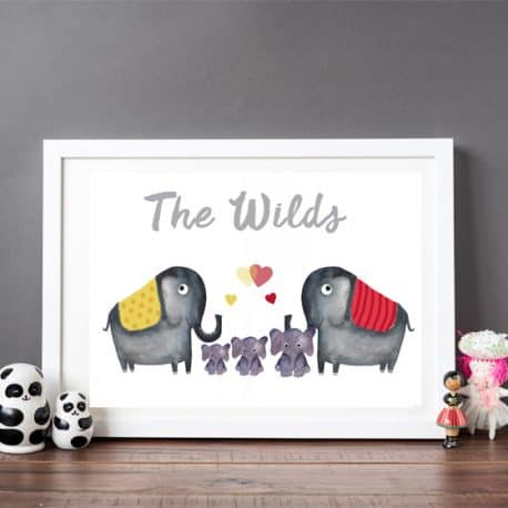 lo elephant print 3 – prints for childs bedroom – children's wall art