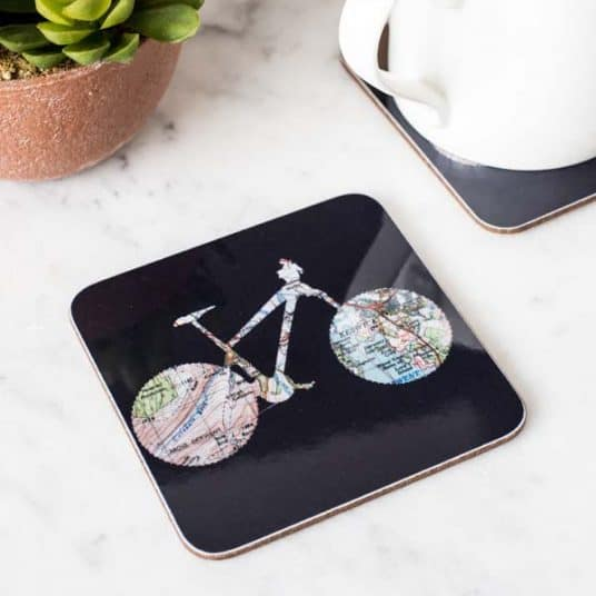 Cycling gift - cycling coaster - gift for a cyclist - bike gift