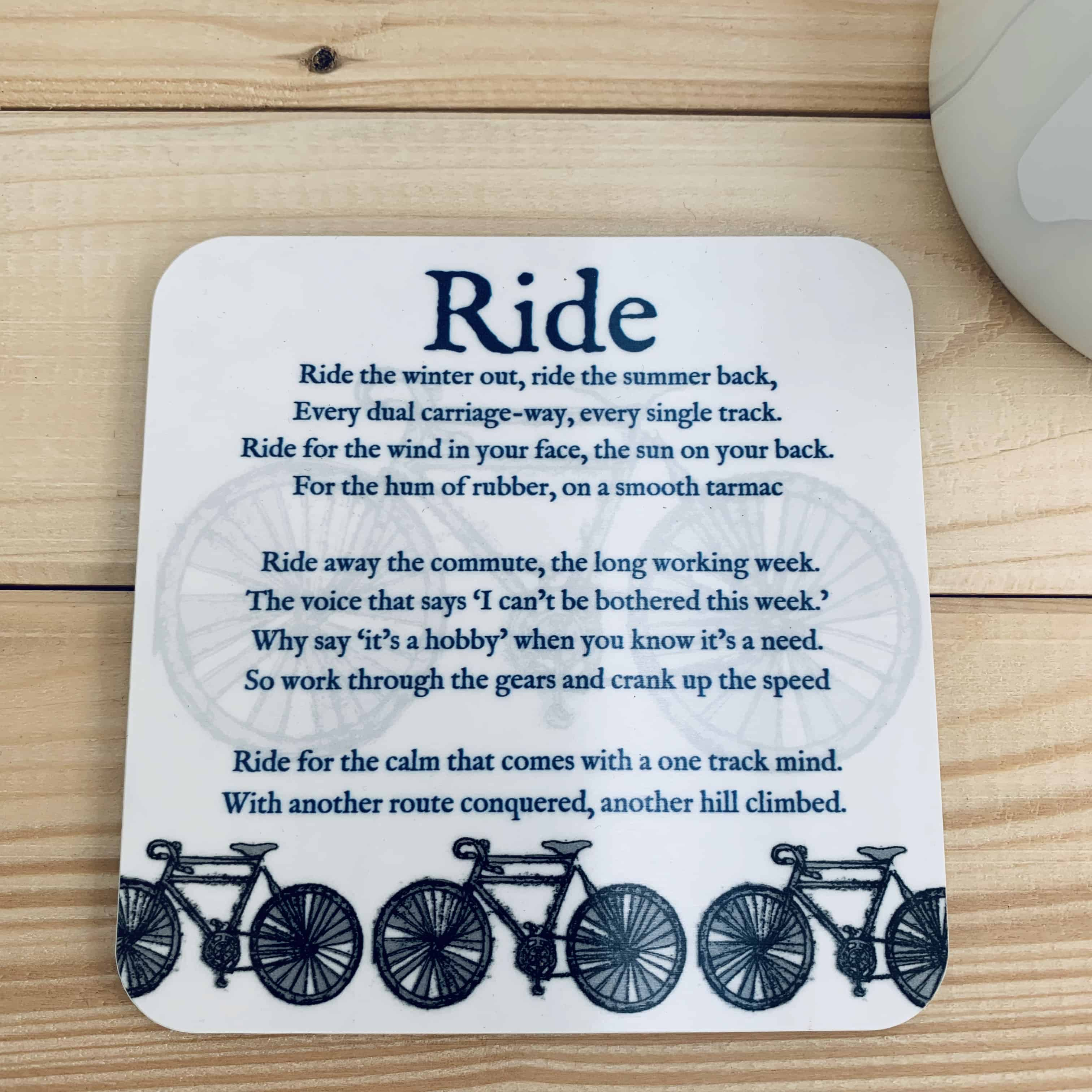 cycling coaster - gift for a cyclist