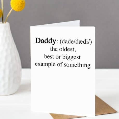 Daddy Definition Father's Day card