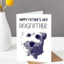 dog card, father's day card. cockapoo card. labradoodle card
