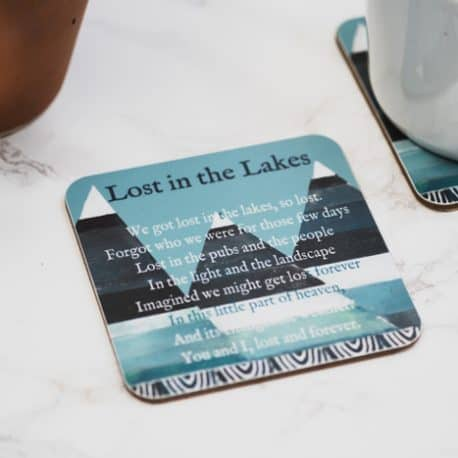 lake district poem coaster gift