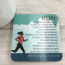 Running Coaster - gift for a runner