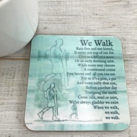 walking gift - walking coaster