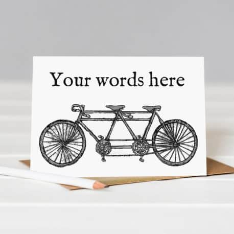 personalised birthday card bike