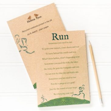run journal, running gift, gift for her, gift for him, stocking filler under £5
