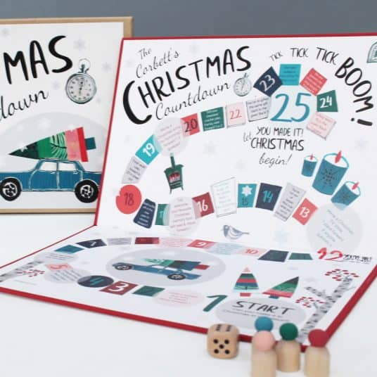 Personalised Christmas Board Game