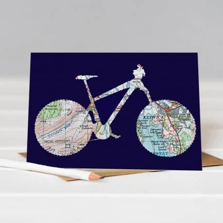Cycle card Lake District gift