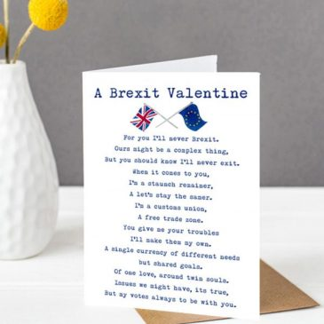 Brexit Valentines Card - funny Valentine card