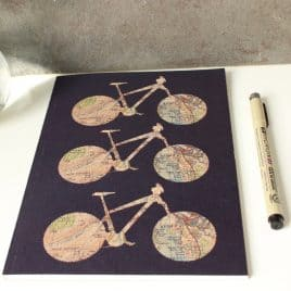 Cycle notepad gift for a cyclist