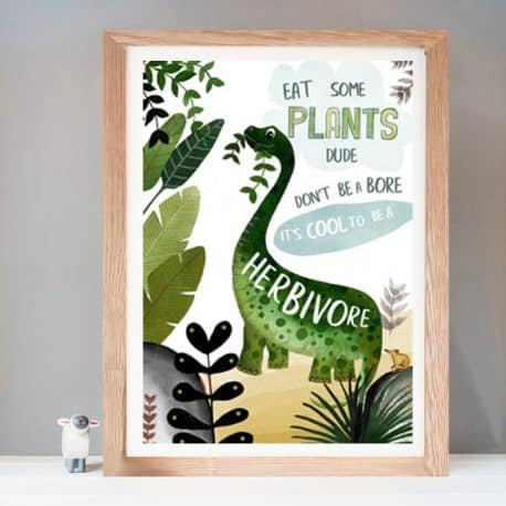 personalised dinosaur children's wall art