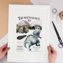 T-Rex Dinosaur Wall Art for Kids