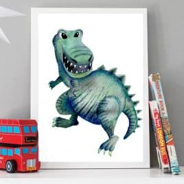 Children's Wall Art Dinosaur poster
