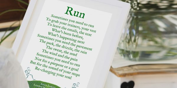 Personalised running print gift for a runner copy