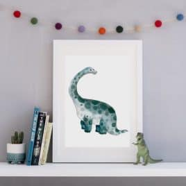 Cute Dinosaur Wall Art Print