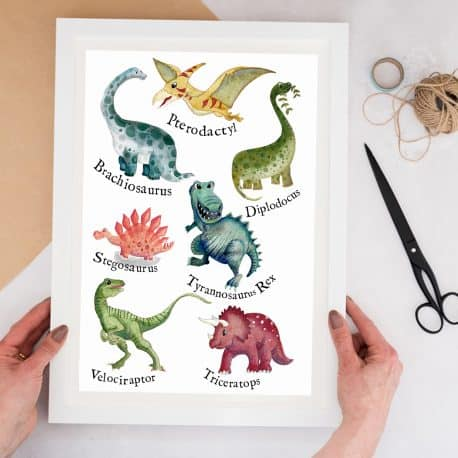 dinosaur print for children's bedroom
