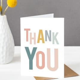 Thank you Card – Ice Cream Colours