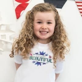 Girls empowerment t-shirt - be your own kind of beautiful