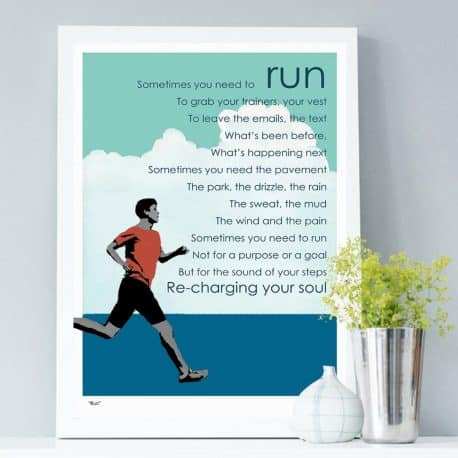 Run print - gift for a runner