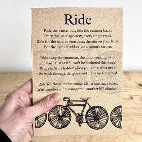 Cycle notebook gift for a cycler