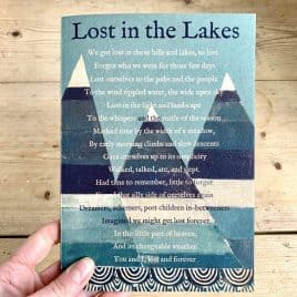 Lake district poem journal