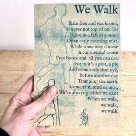 Walking notebook gift for a walker