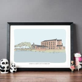 Bespoke Wedding Venue Print - personalised wedding gift