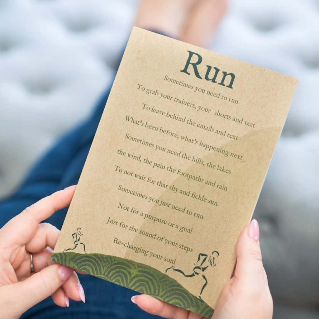 Running notebook gift for a runner