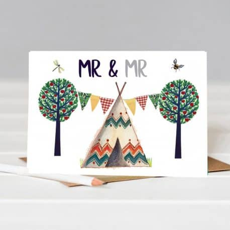 Mr & Mr Same sex wedding card