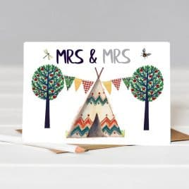 Same sex female wedding card