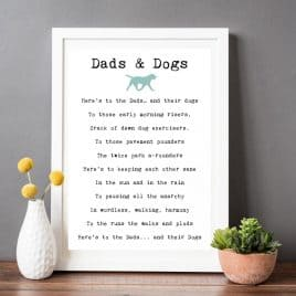 dads and dogs print