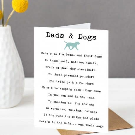Dads and Dogs Father's Day Card