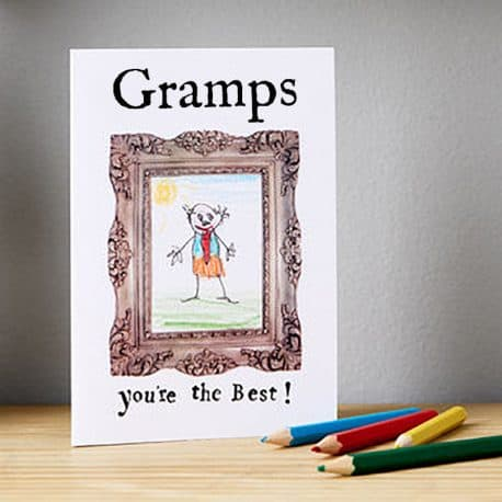 personalised card for gramps