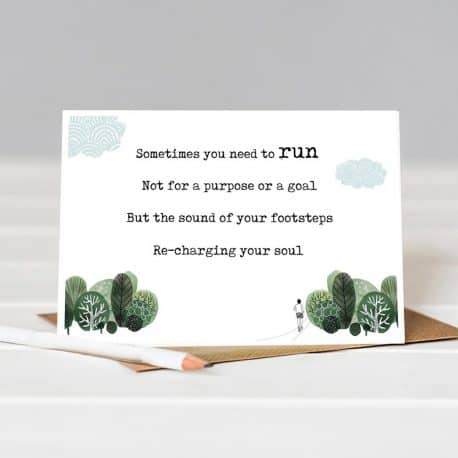 run poem card