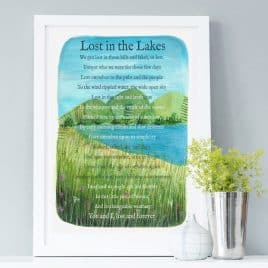 Lost summer framed lake district print