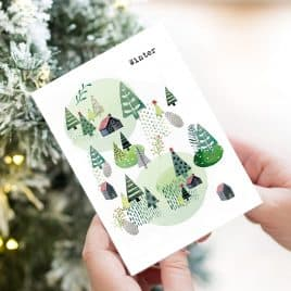 Winter Watercolour Christmas Card