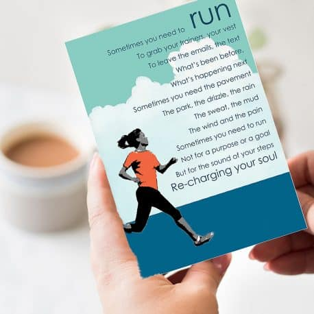 Run Poem Card - Birthday card for a runner