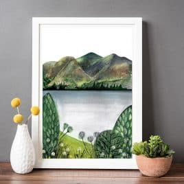 Lake district mountains print